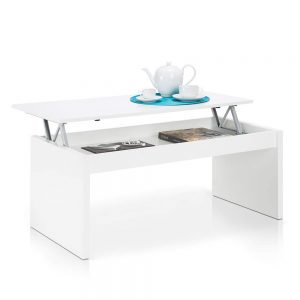 La table basse relevable blanche