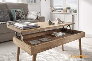 La table basse relevable en bois