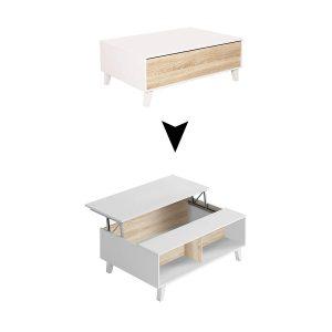 Choisir une table basse relevable scandinave