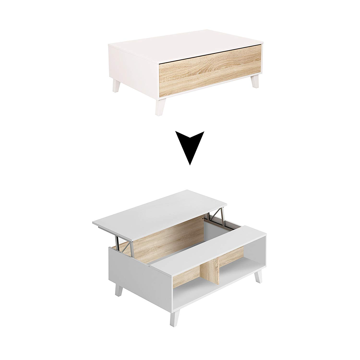 Choisir une table basse relevable scandinave